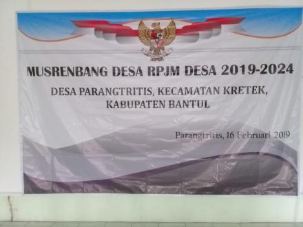 Musrenbang Desa RPJM Desa Parangtritis Tahun 2019-2024