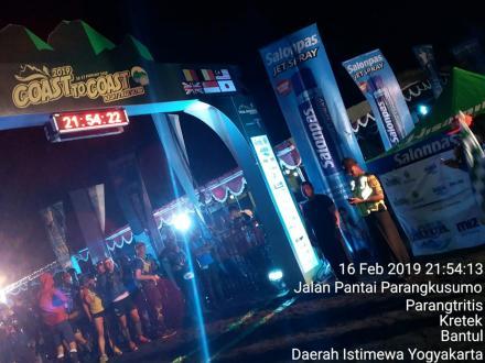 Coast to Coast Night Trail Ultra 2019 di Pantai Depok