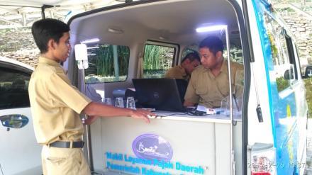 Pembayaran PBB Dengan Mobil Keliling di Desa Parangtritis